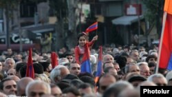 Armenia -- Opposition supporters rally in Yerevan, 10Oct2014.