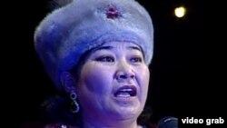 Маржан Еcжанова, айтыскер ақын. Шымкент, 16 наурыз 2012 жыл