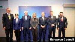 Премиерите на земјите од Западен Балкан со шефицата на европската надворешна политика Федерика Могерини