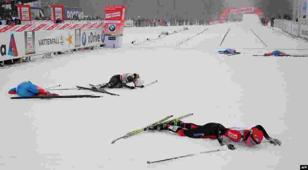 Rusija - Justina Kowalžik iz Poljske slavi pobjedu na osvojenom svjetskom kupu u cross-country za žene, Moskva, 02.02.2012.