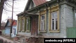 Зьнесены дом, які стаяў на Валатаўскай вуліцы ў Гомелі