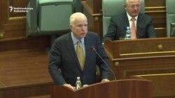 McCain Praises Kosovo For Fighting Terror