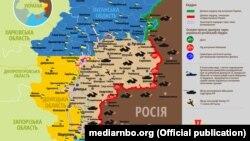 Ситуація в зоні бойових дій на Донбасі, 4 серпня 2019 року. Інфографіка Міністерства оборони України