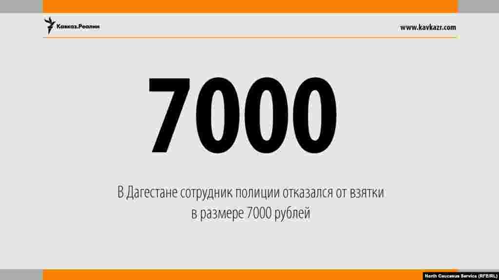 16.08.2017 //В Дагестане сотрудник полиции отказался от взятки в размере 7000 рублей