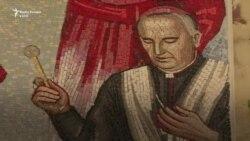 Murali i ish-kardinalit ende në Katedralen e Prishtinës