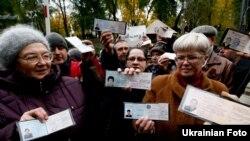 Чорнобильці вимагають у Кабміну не скасовувати їхні пільги, Київ, 2 листопада 2011 року