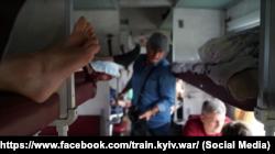 Зйомки фільму «Поїзд Київ-війна» під час роботи, літо 2019 року