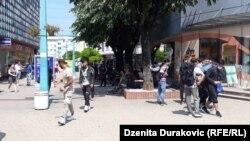 Migranti u centru Bihaća
