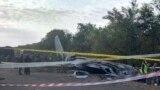 Обломки фюзеляжа Ан-26, упавшего в Чугуеве вечером 26 сентября. На борту находились курсанты-будущие летчики, среди которых Александр Скочков, отец которого погиб в 2014-м в сбитом боевиками Ил-76