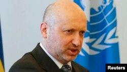 Украина президенті міндетін атқарушы Александр Турчинов.