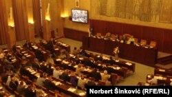 Skupština Vojvodine tokom rasprave o deklaraciji, 20. maj 2013.