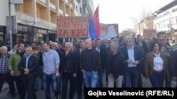 Protest radnika Željeznica RS-a, Banjaluka
