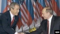 این اخرین دیدار رسمی بوش با پوتین خواهد بود(عکس:epa)