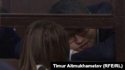 Қуандық Бишімбаев сот залында отыр. Астана, 8 қаңтар 2017 жыл.