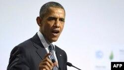 Birleşen Ştatlaryň prezidenti Barak Obama. 30-njy noýabr, 2015 ý. Pariž, Fransiýa.
