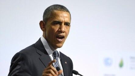 U.S. President Barack Obama speaks at the UN conference on climate change.