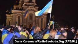 Митинг против агрессии России. Донецк, 4 марта 2014 года