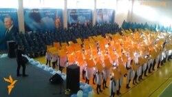 Студенты в Астане поддержали послание президента