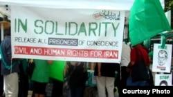 نیویورک، تابستان ۱۳۸۸، در حمایت از جنبش سبز ایران