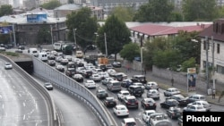 Armenia - Traffic in Yerevan, 28Sep2017.