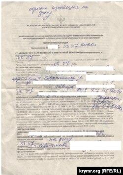 Предписание о строгой самоизоляции, выданное журналисту Крым.Реалии