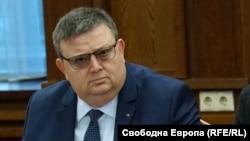 Bulgarian prime minister Boyko Borisov and chief prosecutor Sotir Tsatsarov