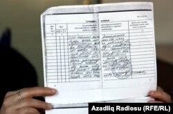 Turac Zeynalovun əmək kitabçasına da düzəliş edilib