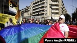 Parada ponosa u Beogradu, 10. oktobar 2010.