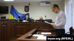 Прокурор Андрей Гонтар на суде по делу Александра Саттарова. Киев, 1 апреля 2019 года