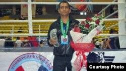 Iranian kick boxer Ahmad Fouladizadeh