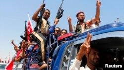 Իրաք - Շիաների «Բադր» կազմակերպության կամավորները, որոնք միացել են Իրաքի բանակին՝ սուննի զինյալների դեմ պայքարելու համար, 14-ը հունիսի, 2014թ․
