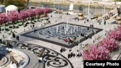 Проект за нова фонтана на плоштадот Македонија во Скопје.