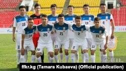 Кыргызстандын футбол боюнча 19 жашка чейинки улуттук курама командасы. 31.10.2017-ж. Бишкек.