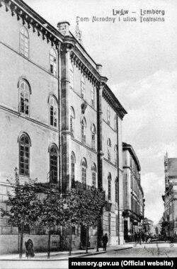 Будівля «Народного дому», що став штаб-квартирою Головної команди повстання й епіцентром українського національно-визвольного руху