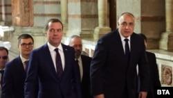Бойко Борисов и Дмитрий Медведев в Министерския съвет.