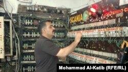 لوحة التوزيع لاحدى مولدات الكهرباء الاهلية في الموصل