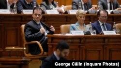 Ludovic Orban, la dezbaterea moțiunii de cenzură care a dus la căderea guvernului pe care îl conduce