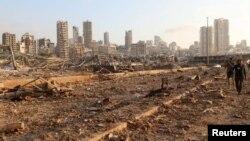 Լիբանանի մայրաքաղաք Բեյրութը պայթյունից հետո, 5-ը օգոստոսի, 2020թ.