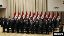 تشكيلة الحكومة العراقية بعد التصويت عليها في 21 كانون الأول 2010.