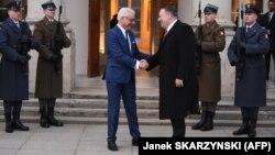 وزیران خارجه آمریکا (راست) و لهستان در ورشو