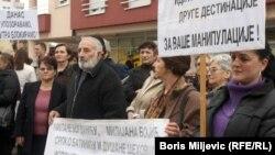 Protest ispred kancelarija Instituta za nestala lica BiH, Banja Luka 22. novembar 2010.