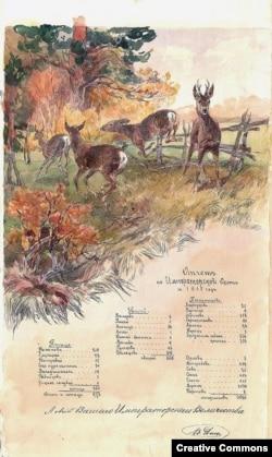 Отчет главного царского ловчего о результатах охоты, 1915 год