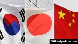 Flamujt e tri shteteve.