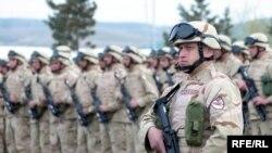 На военной базе в Вазиани состоялась церемония официальных проводов военнослужащих, отправляющихся в Афганистан