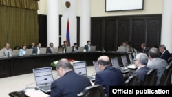 Armenia -- Prime Minister Tigran Sarkisian's cabinet holds a weekly meeting.