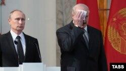 Президенти Росії та Білорусі Володимир Путін та Олександр Лукашенко