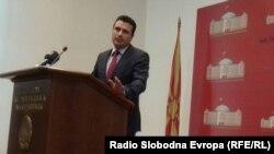 Zoran Zaev na konferenciji za novinare u Sobranju