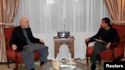 Встреча Хамида Карзая со Сьюзан Райс в Кабуле