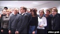 Фильмден алынган кадр. 2000-жылдагы президенттик шайлоо. Путиндин штабы.