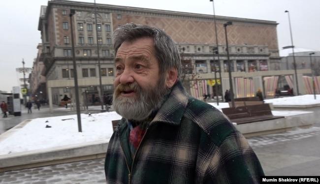 Сергей Мохнаткин на Триумфальной площади в Москве